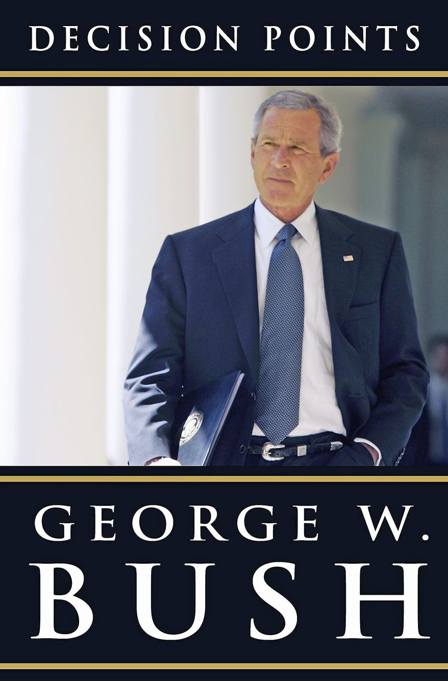 """Decision Points,"" by former President George W. Bush, is an analysis of key points in his life. It is set to be released this fall."