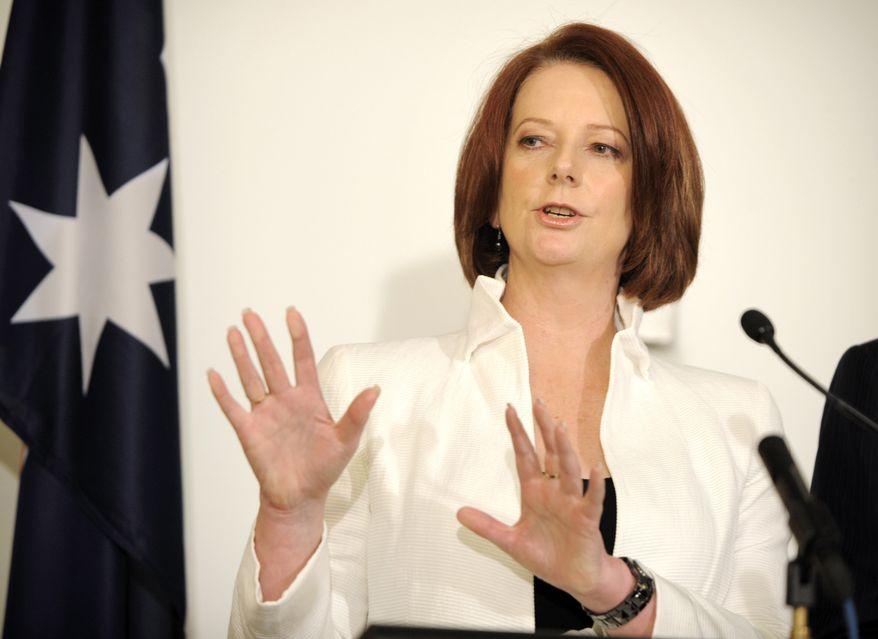 Australian Prime Minister Julia Gillard (Associated Press)
