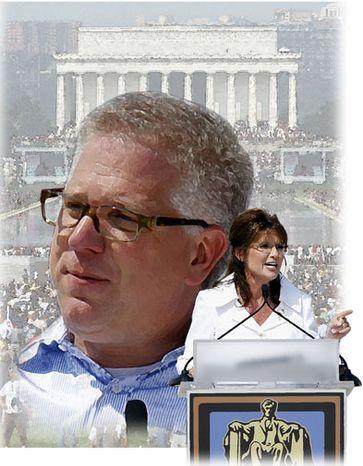 Illustration: Glenn Beck rally by Greg Groesch for The Washington Times