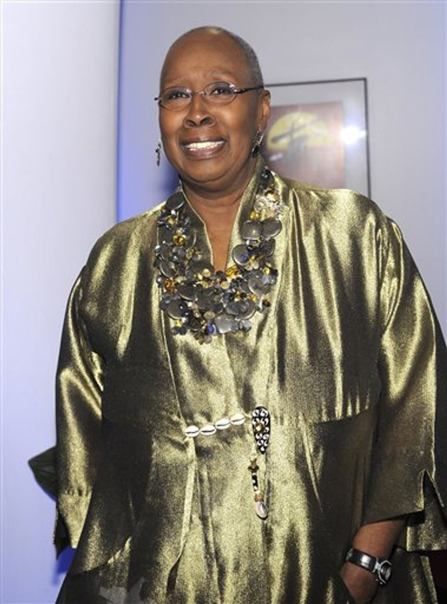 FILE-   This Jan. 17, 2009 file photo shows choreographer Judith Jamison as she attends the BET Honors at the Warner Theatre in Washington. The main attraction at Tuesday's White House dance event will be the Alvin Ailey American Dance Theater, and that's because its celebrated artistic director, Judith Jamison, soon to retire after two decades in the job, is the honoree of the event.    (AP Photo/Evan Agostini, FILE)