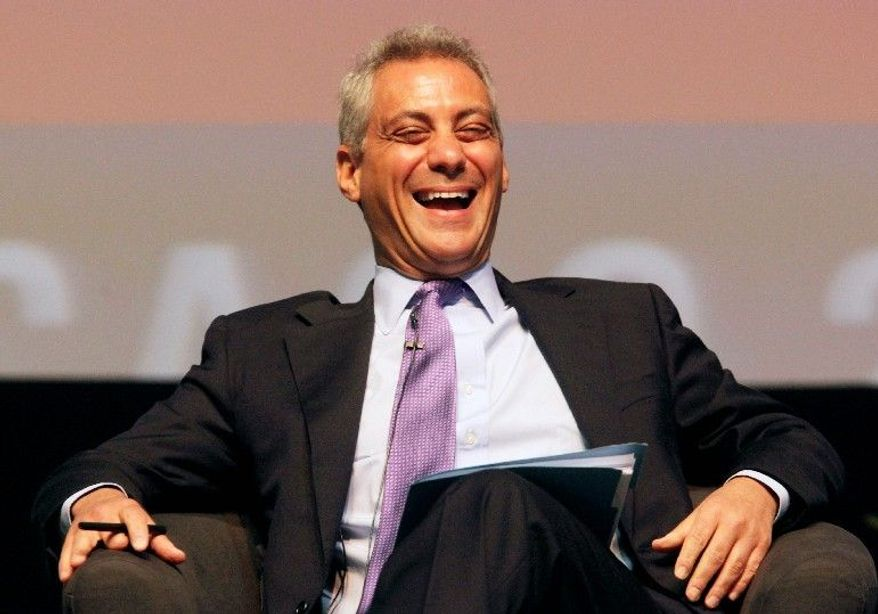 ASSOCIATED PRESS White House Chief of Staff Rahm Emanuel takes some ribbing regarding his comment about someday wanting to be mayor of Chicago in April at the sixth annual Richard J. Daley Global Cities Forum in Chicago.