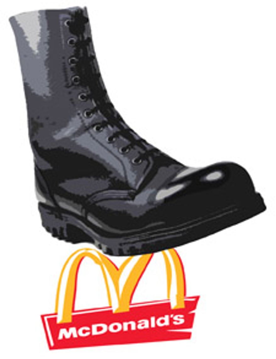 Illustration: Regulatory boot by Greg Groesch for The Washington Times