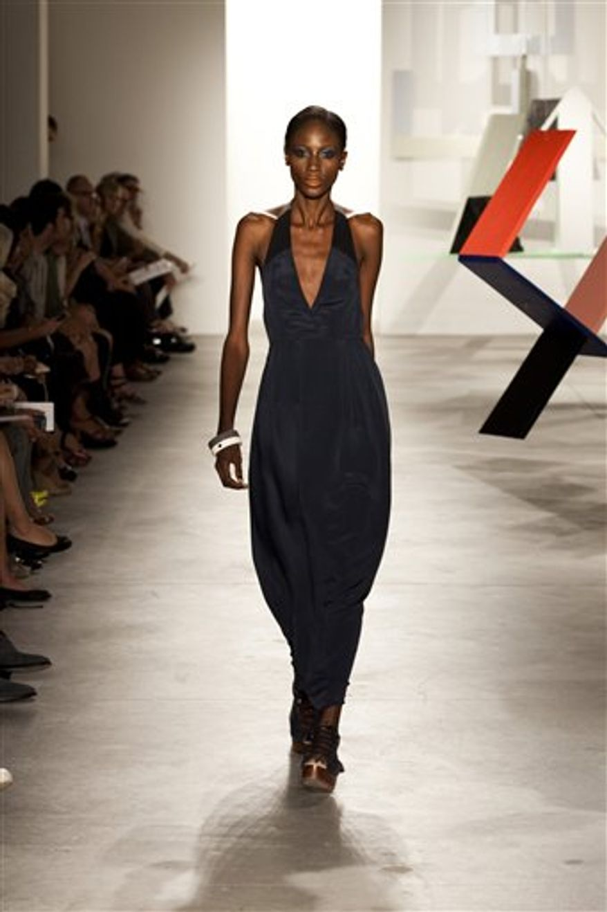 Fashion from the Vena Cava Spring 2011 collection is modeled Thursday Sept. 9, 2010, during Fashion Week in New York. (AP Photo/Vena Cava) NO SALES