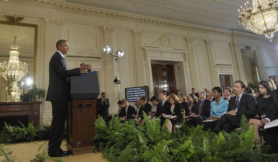 President Obama makes remarks during a press conference in the East Room of the White House in Washington, Friday, Sept. 10, 2010. (AP Photo/Susan Walsh)