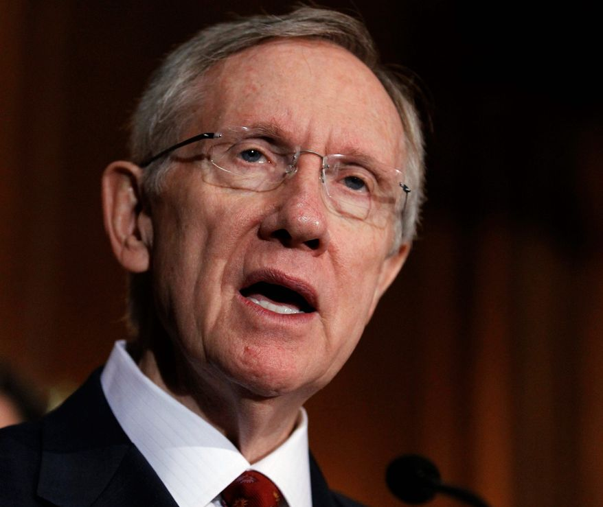 Senate Majority Leader Harry Reid of Nevada must try to stop the Yucca Mountain nuclear waste repository project or risk not being re-elected. (Associated Press)