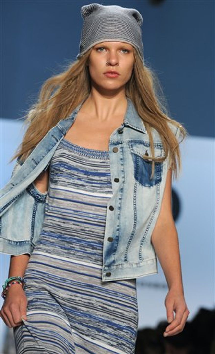 The Charlotte Ronson spring 2011 collection is shown during Fashion Week in New York, Saturday, Sept. 11, 2010. (AP Photo/Diane Bondareff)
