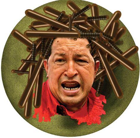Illustration: Hugo Chavez by Alexander Hunter for The Washington Times