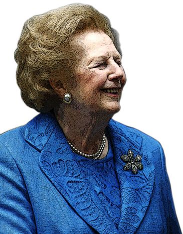 Illustration: Margaret Thatcher