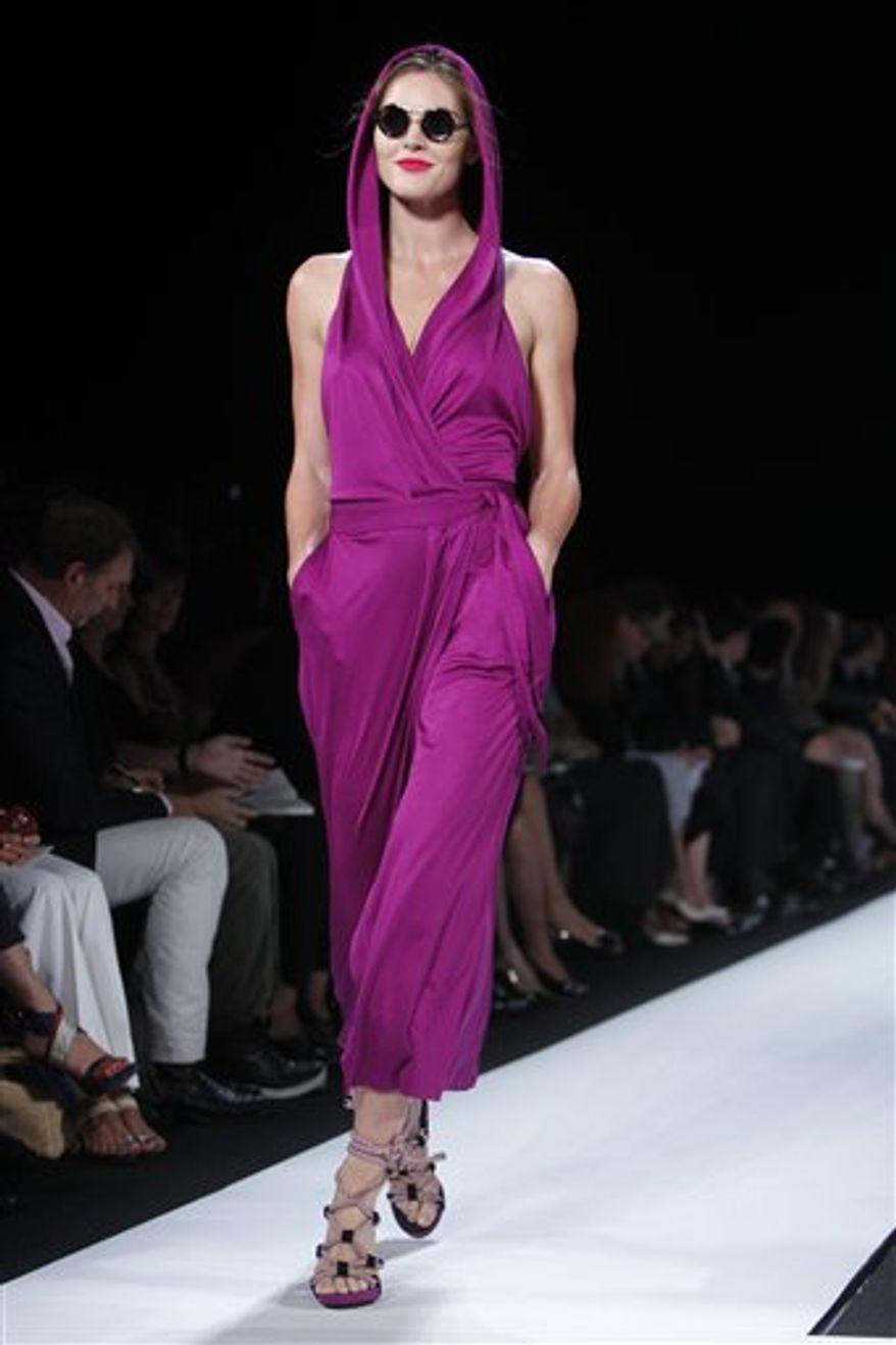 The Diane von Furstenberg spring 2011 collection is modeled during Fashion Week in New York, Sunday, Sept. 12, 2010.  (AP Photo/Seth Wenig)
