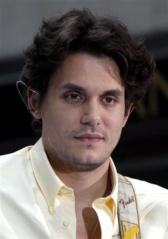 "FILE - In this July 23, 2010 file photo, John Mayer appears on the NBC ""Today"" television program in New York. (AP Photo/Richard Drew, file)"
