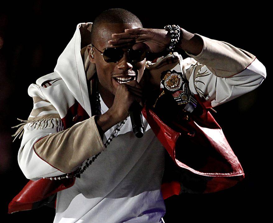B.o.B. performs at the MTV Video Music Awards on Sunday, Sept. 12, 2010 in Los Angeles. (AP Photo/Matt Sayles)