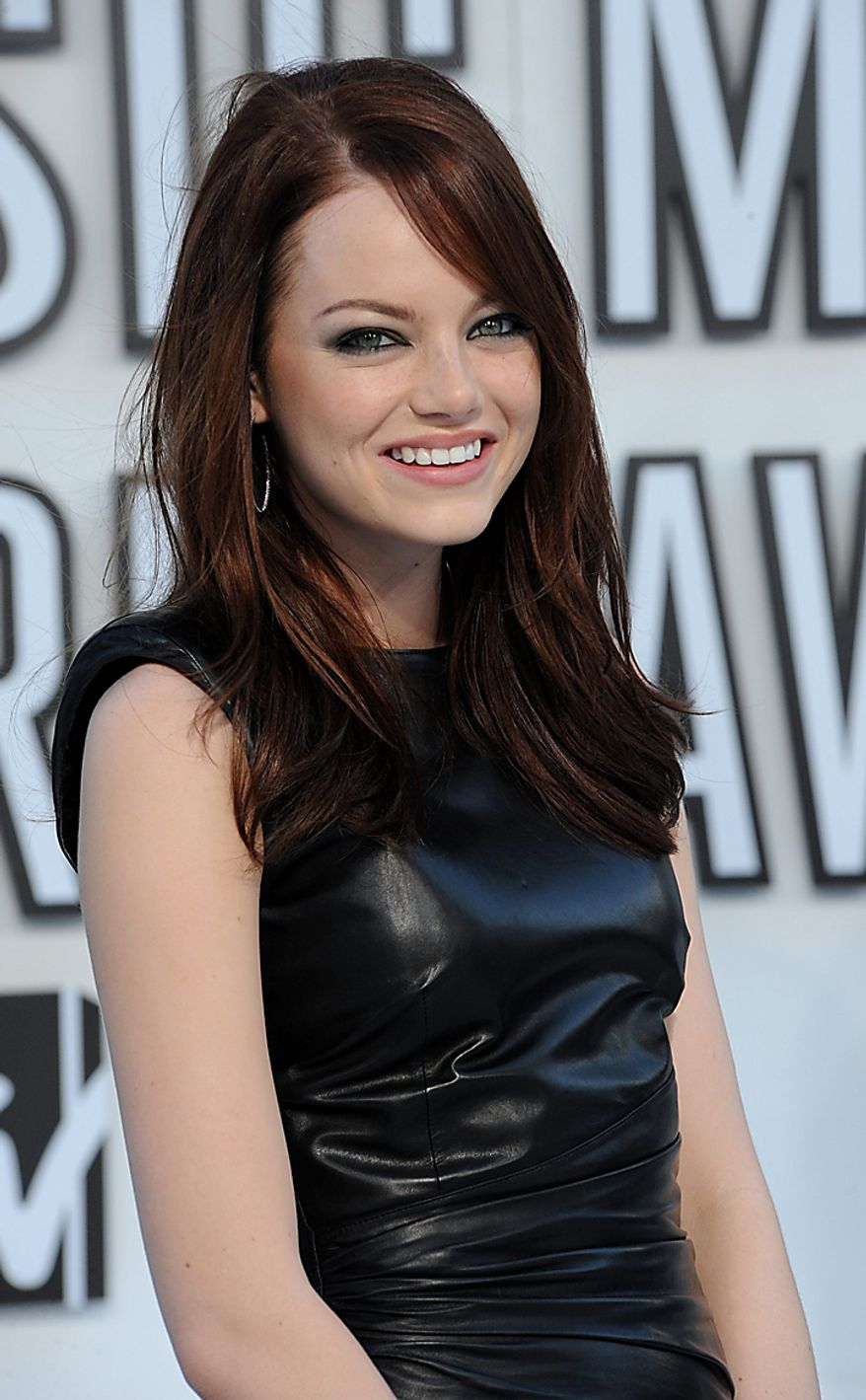 Actress Emma Stone arrives at the MTV Video Music Awards in Los Angeles on September 12, 2010 in Los Angeles.  UPI/Jim Ruymen