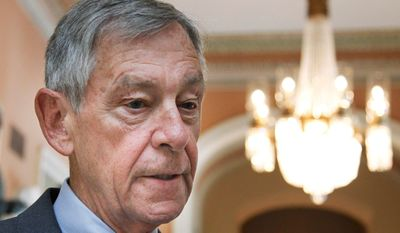 ASSOCIATED PRESS PHOTOGRAPHS Sen. George V. Voinovich, Ohio Republican (left), and Sen. George S. LeMieux, Florida Republican (right), broke with their party Tuesday to help Democrats advance President Obama's small-business assistance bill in the Senate. A final Senate vote is expected later this week. Then the bill must go back to the House for final approval.