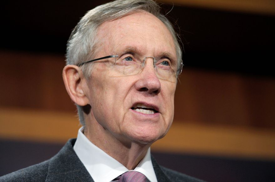 ASSOCIATED PRESS GETTING A 'WIN': Sen. Harry Reid hailed the progress of the small-business assistance bill.