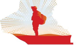Illustration: Iraq by Linas Garsys for The Washington Times