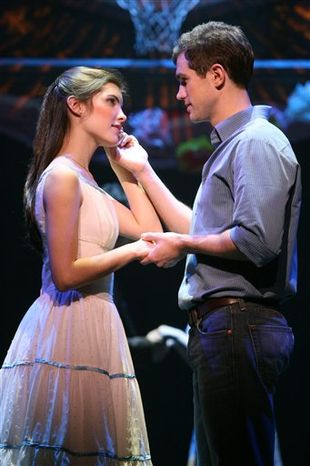 """In this image released by Barlow-Hartman Public Relations, Matt Cavenaugh as Tony and Josefina Scaglione as Maria perform in a scene from the Broadway revival of """"West Side Story,"""" now playing at the Palace Theatre in New York. (AP Photo/Barlow-Hartman Public Relations, Joan Marcus)"""