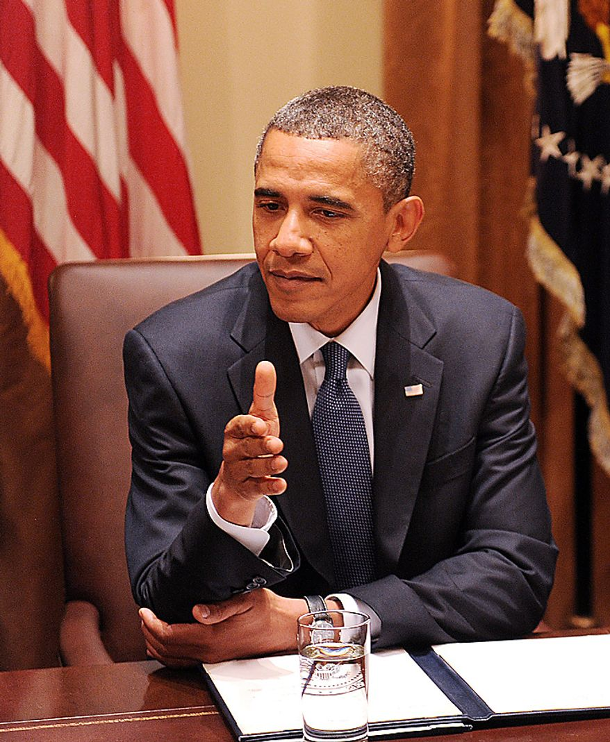U.S President Barack Obama speaks during a Cabinet Meeting in the Cabinet Room of the White House in Washington D.C. on September 15 2010. UPI/Olivier Douliery/Pool