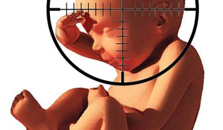 Illustration: Abortion by Alexander Hunter for The Washington Times