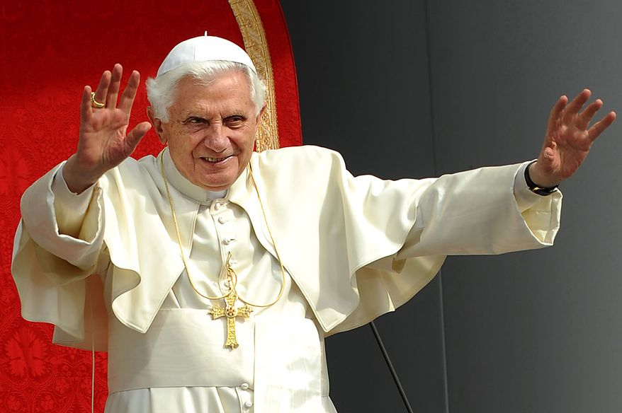 Pope Benedict XVI presides over a Celebration of Catholic Education at St Mary's University College, in  London, on Friday  Sept.17, 2010.  Pope Benedict XVI is on the second day of  a four-day visit, the first-ever state visit by a Pope to Britain.  (AP Photo/Ben Stansall, Pool)