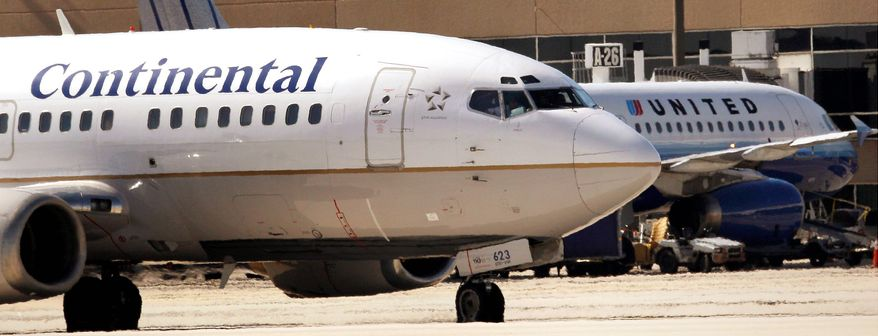 ASSOCIATED PRESS Although changes won't be noticed immediately, United and Continental airlines will combine their unionized work forces, merge reservation systems and repaint their planes with the United name and Continental globe logo.