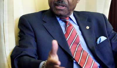Sen. Roland W. Burris, Illinois Democrat, is offering an amendment to the Defense Authorization Act that would lift restrictions on abortions at military hospitals. The Senate votes Tuesday. (AP Photo)