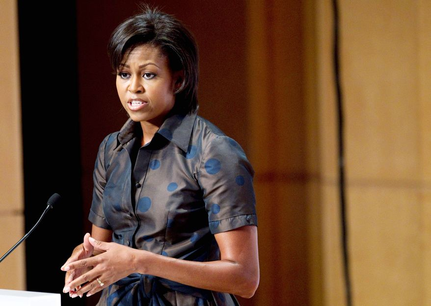 ASSOCIATED PRESS First lady Michelle Obama addresses the Congressional Hispanic Caucus Institute Public Policy Conference in Washington on Tuesday.
