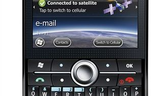 This undated product image released by AT&T, shows the TerreStar Genus phone. On Tuesday, Sept. 21, 2010, AT&T will start selling its first phone that includes a backstop for AT&T's own network, over a satellite. The new phone, TerreStar Genus, could be an important tool for boaters, fishermen, forest wardens, emergency crews and others who go outside regular cellular coverage. (AP Photo/AT&T) NO SALES.