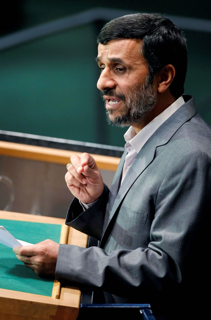 ASSOCIATED PRESS MANIPULATOR? Iranian President Mahmoud Ahmadinejad seems unhinged with his ramblings, say some observers. Others see calculated provocation.