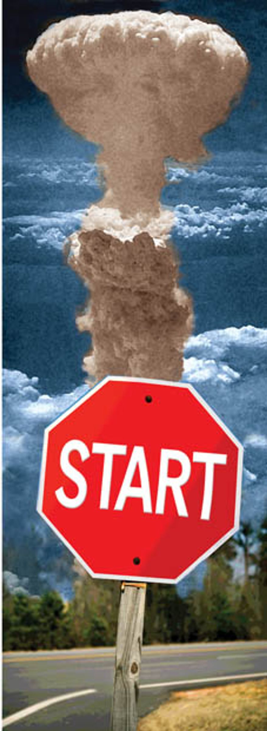 Illustration: Stop START by Greg Groesch for The Washington Times