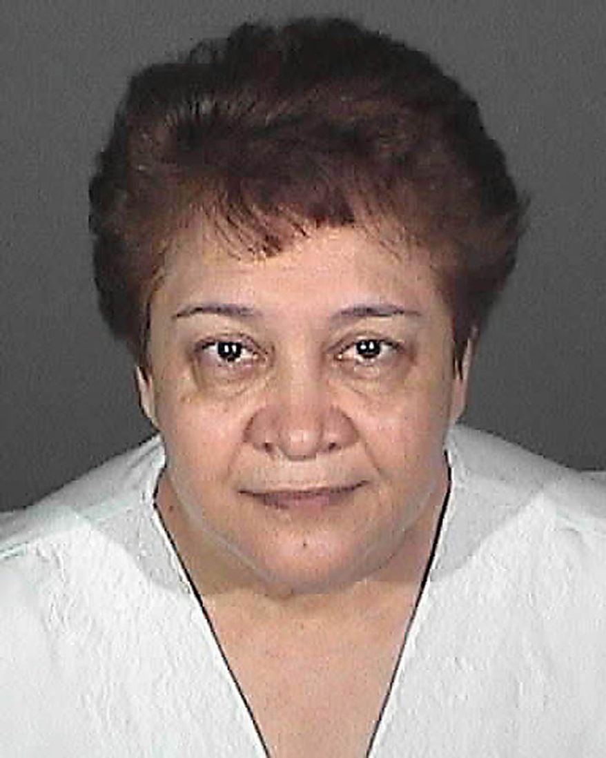 This image provided by the Los Angeles County Sheriff's Department shows city of Bell official, Teresa Jacobo who was arrested Tuesday Sept. 21, 2010 along with seven others  over allegations of corruption, misuse of public funds and voter fraud. (AP Photo/Los Angeles County Sheriff)