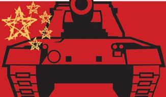 Illustration: China by Linas Garsys for The Washington Times