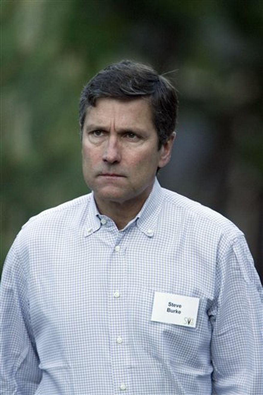 FILE - This July 8, 2010 file photo shows Steve Burke, of Comcast,at the annual Allen & Co. Media summit in Sun Valley, Idaho. (AP Photo/Nati Harnik, file)