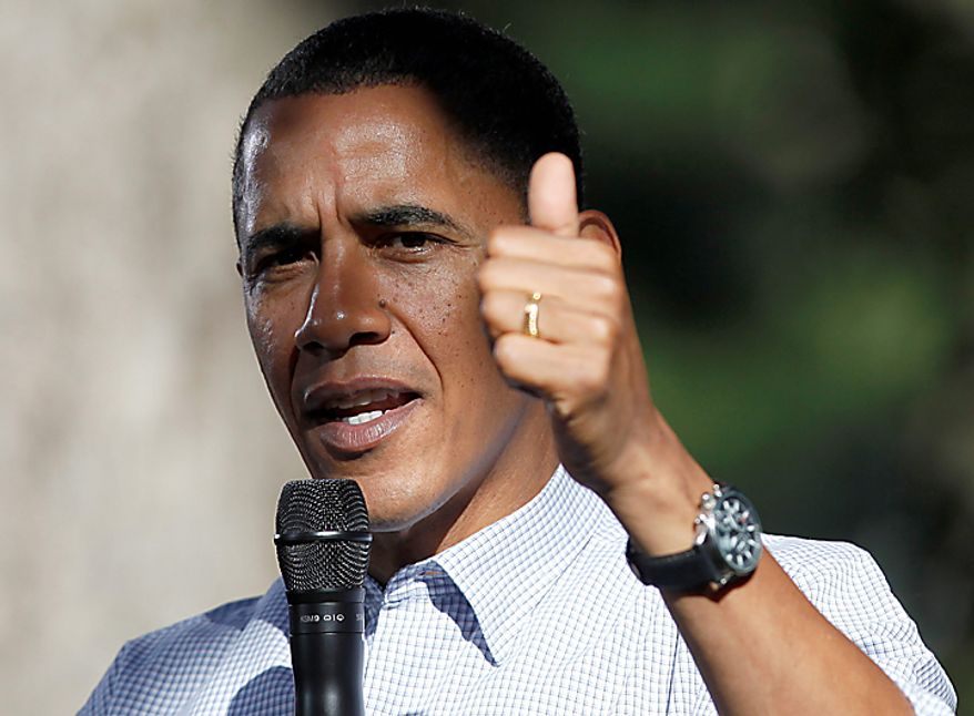 President Barack Obama speaks during a discussion with neighborhood families in the backyard of the Clubb family in Des Moines, Iowa, Wednesday, Sept. 29, 2010. (AP Photo/Charles Dharapak)