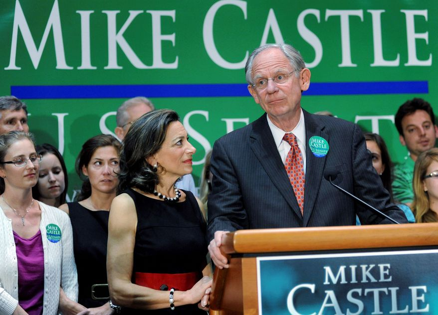 """ASSOCIATED PRESS PHOTOGRAPHS Rep. Michael N. Castle and his wife, Jane, say they are """"thinking about the next chapter of our lives"""" after he leaves Capitol Hill after serving nine terms."""