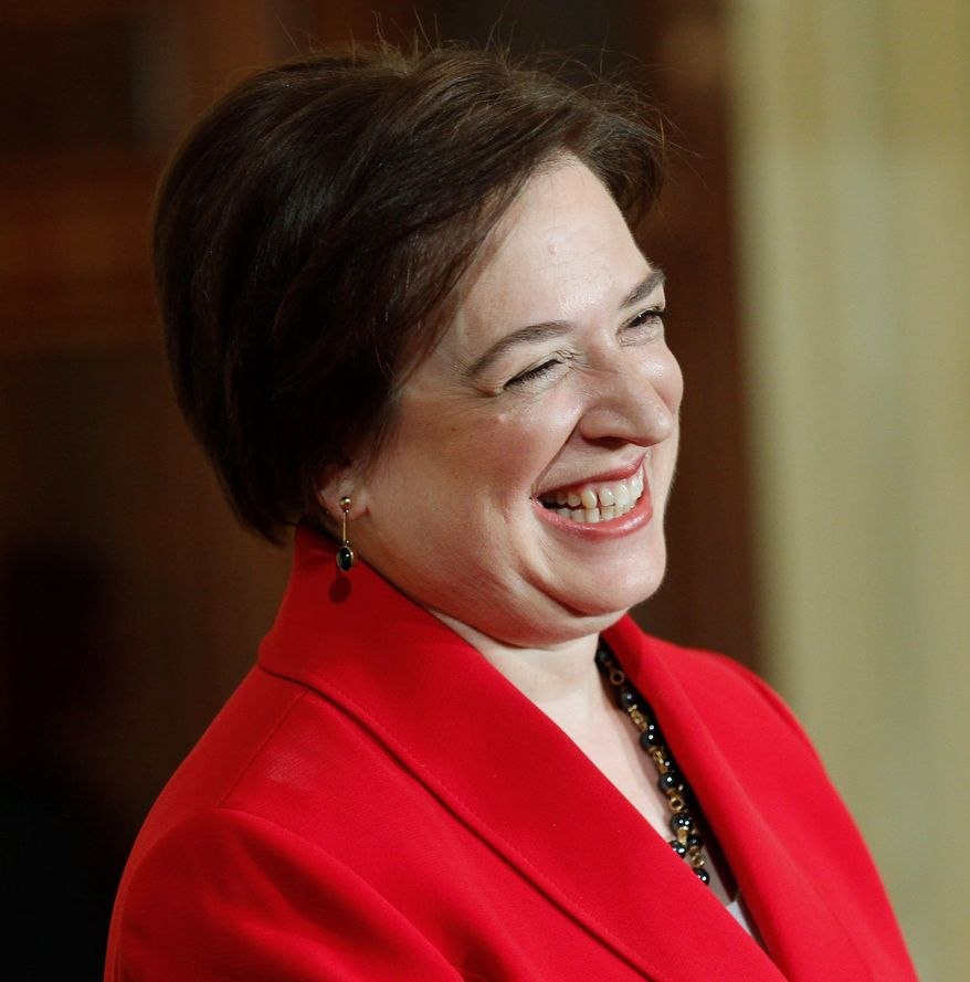 ON THE SIDELINES: Supreme Court Justice Elena Kagan can't hear about half the cases this term because of her previous involvement. (Associated Press)