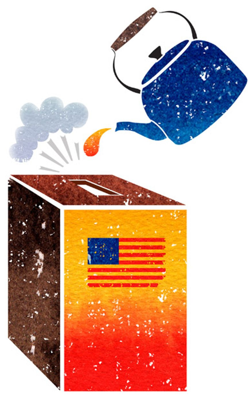 Illustration: Tea Party elections by Greg Groesch for The Washington Times