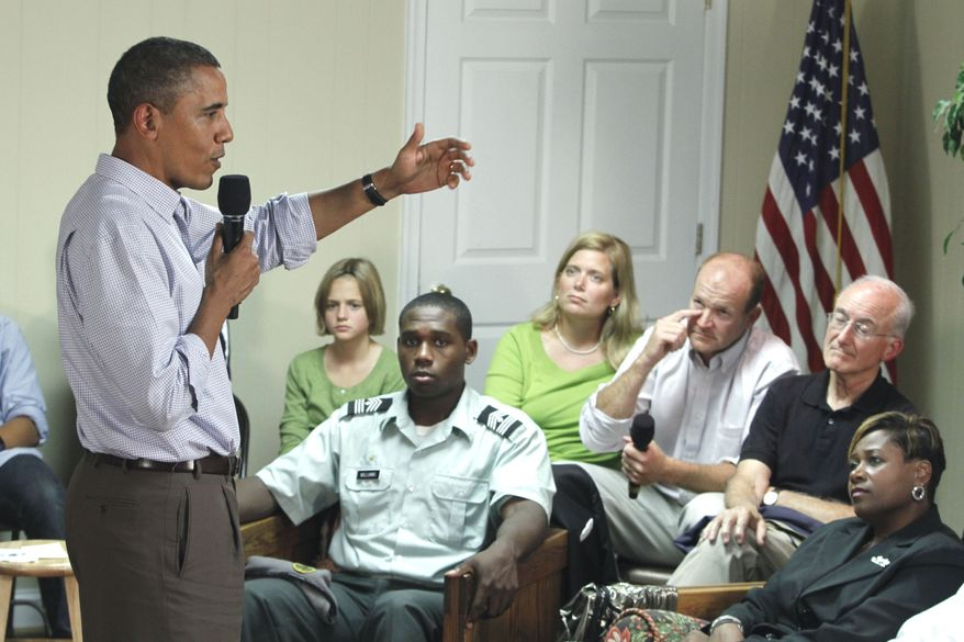 ASSOCIATED PRESS President Barack Obama holds a discussion with families in Richmond, Va., Wednesday, Sept. 29, 2010.