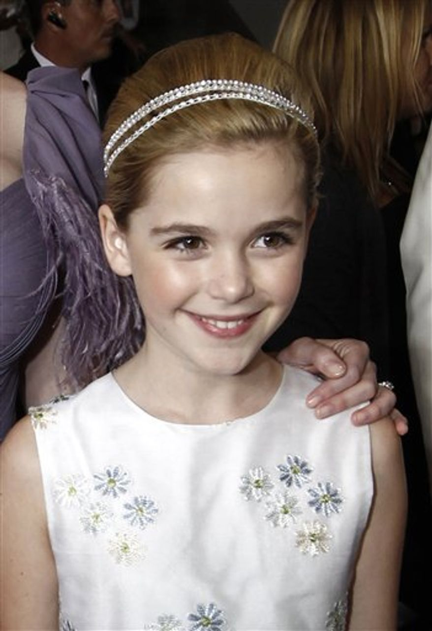 FILE - In this Aug. 29, 2010 file photo, actress Kiernan Shipka is shown backstage during the 62nd Primetime Emmy Awards in Los Angeles. (AP Photo/Matt Sayles, file)