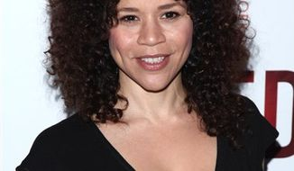 "FILE - In this April 1, 2010 file photo, actress Rosie Perez attends the opening night of the Broadway play ""Red"" at The Golden Theatre in New York. (AP Photo/Peter Kramer, file)"