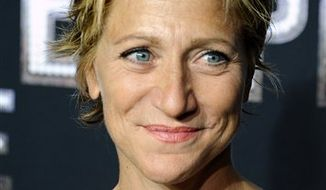 """FILE - In this Sept. 15, 2010 file photo, Edie Falco attends the HBO premiere of """"Boardwalk Empire"""" at The Ziegfeld Theater.  (AP Photo/Peter Kramer, file)"""