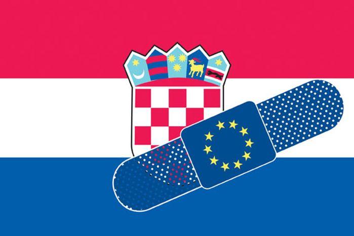 Illustration: Croatia by Linas Garsys for The Washington Times
