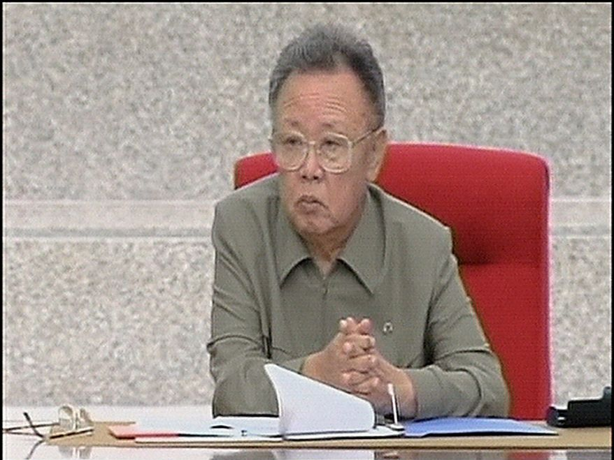 In this Tuesday, Sept. 28, 2010 image made from KRT video distributed by APTN Thursday, Sept. 30, 2010, North Korean leader Kim Jong Il is seated during the ruling Workers' Party representatives meeting, the biggest political gathering in 30 years to elect new leaders, in Pyongyang, North Korea. (AP Photo/KRT/APTN)