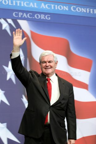 Associated Press Former House Speaker Newt Gingrich, Georgia Republican, seen here in Washington in February, has maintained a high profile since leaving Congress in 1999.