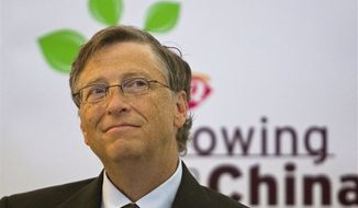 ** FILE ** Microsoft Corp. founder Bill Gates is seen at a Dairy Queen in Beijing, China, Sept. 30, 2010.  (Associated Press)