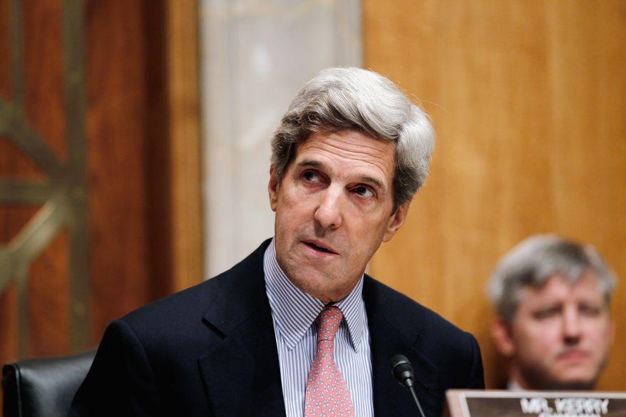 ** FILE ** Sen. John F. Kerry, Massachusetts Democrat (Associated Press)