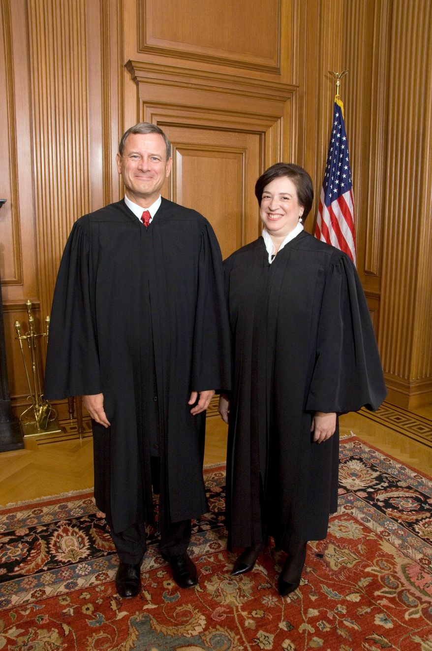 IN AND OUT: Supreme Court Justice Elena Kagan participated in the day's first case, but left before the second case to avoid any conflict of interest. (Associated Press)