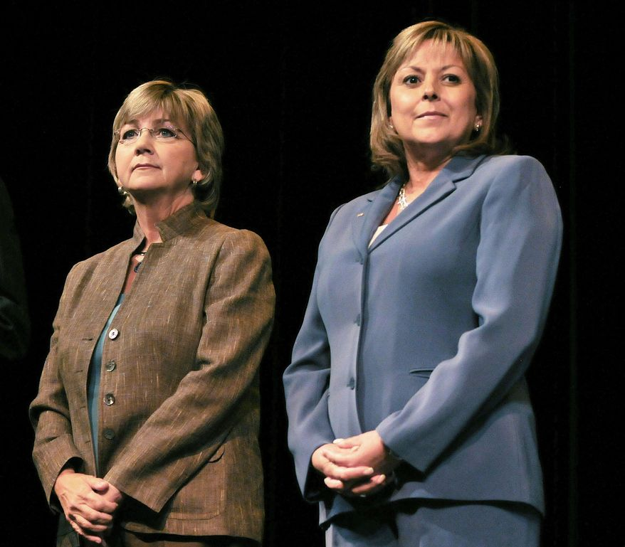 ASSOCIATED PRESS PHOTOGRAPHS Gubernatorial candidates Diane Denish, a Democrat (left), and Republican Susana Martinez are in a historic race in which New Mexico will elect its first female governor.