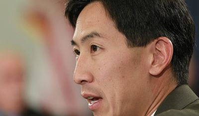 **FILE** Rep. Charles Djou, Hawaii Republican and the former Honolulu city councilman who recently replaced Rep. Neil Abercrombie, attends his first meeting on the House Budget Committee on June 9, 2010. (Associated Press)