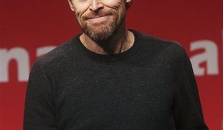 American actor Willem Dafoe appears for a press conference during the 15th Pusan International Film Festival in Busan, South Korea, Friday, Oct. 8, 2010. (AP Photo/Yonhap, Yoo Yong-suck)