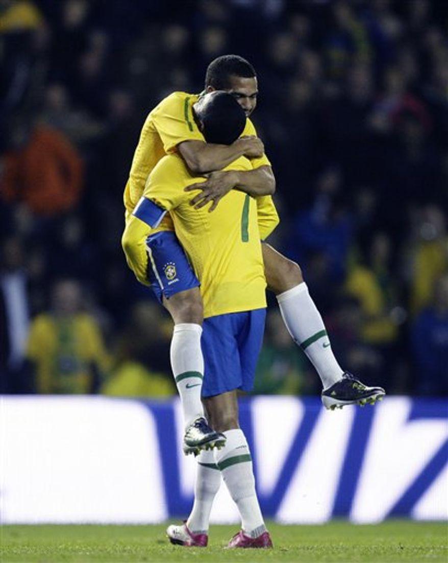Brazil's manager Luis Menezes is seen before his team's International Friendly soccer match against Ukraine at Pride Park Stadium, Derby, England, Monday Oct. 11, 2010.  (AP Photo/Jon Super)